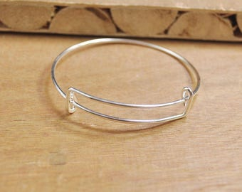 60mm Adjustable Bangle Bracelet,Silver Children' bangle bracelet blanks expandable bangle bracelets charm bracelet popular style.