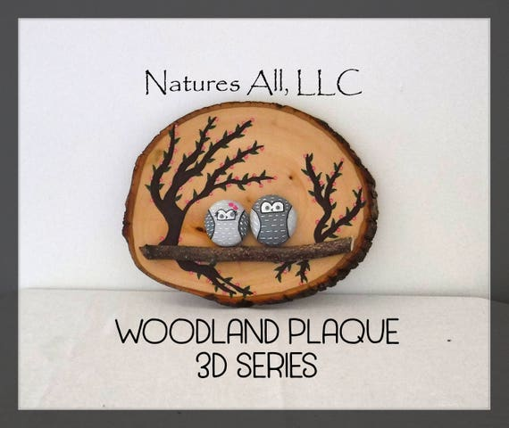 Rustic Home Decor/Woodland Plaque/Owls/3D Series/Decorative Wood Plaque/Rustic Gift Ideas/