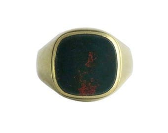 Victorian 10K Gold and Bloodstone Men's Ring