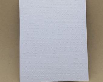 5 embossed cards - embossed Happy birthday