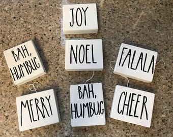 Rae Dunn Inspired Wooden Ornaments