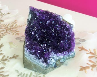 Large Amethyst Crystal Cluster w/ Reiki from Uruguay/ A+ Quality
