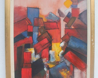 1966 Expressionist  Painting  By Peter H.