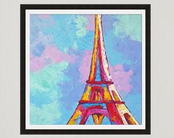 Paris Print, Paris Decor, Eiffel Tower Print, Paris Painting, Paris Poster, Giclee Print, Fine art print, Paris bedroom decor, City wall art