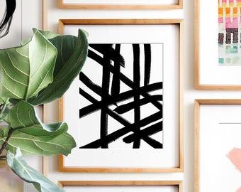 Abstract print, PRINTABLE art, Modern Minimalist print, Modern art, Minimalist Art, Brushstroke Art, Contemporary Art, Black & white art