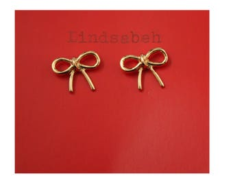 Tiny Bow Stud Earrings