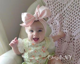 LIGHT PINK Headwraps, baby headwraps, fabric head wrap, newborn headwraps, toddler headwraps, turban headwraps, baby headband, pink headband