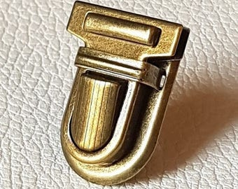 No.1 - Bronze or silver tuck clasp for bag and carton box