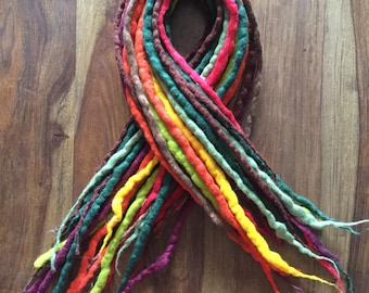 Readymade Half Head/Accent set of double ended Wool Dreadlocks