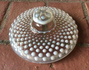Anchor Hocking Moonstone Opalescent Hobnail Lid only