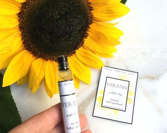 Summer Perfume | Natural Oil Base Floral Perfume - VERANO - Limited Summer Edition. Vegan, Non toxic, Boho Perfume, Citrus.