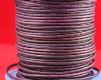 MADE in EUROPE 2 yards of suede cord, 3mm round suede cord (3crolil)