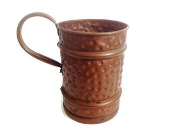 vintage french copper pitcher, antique huge copper pitcher, copper kitchen, french home decor