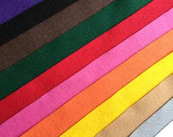 Craft Felt - Eco Felt - Various Colours - Felt Sheets - Price per Sheet