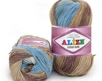 COTTON GOLD BATIK Alize 100 gr - 330 mt. for crochet and knitting