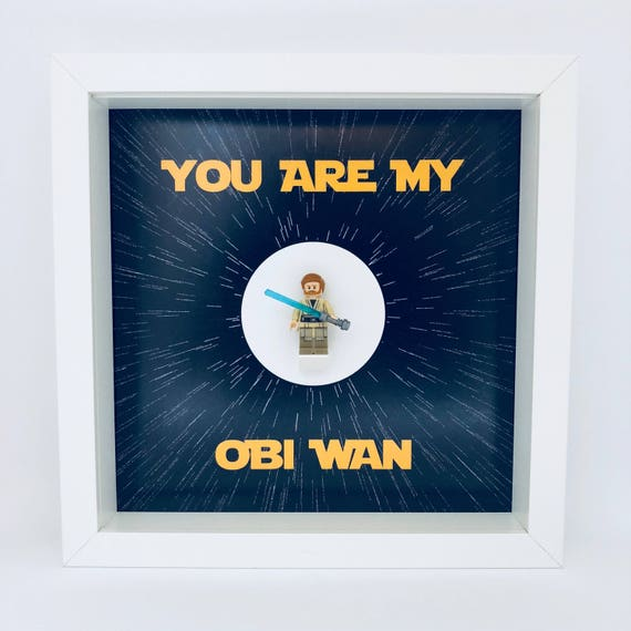 "Obi Wan Kenobi ""You Are My Obi Wan"" Minifigure Frame"