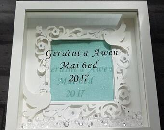 Framed Commemorative Wedding or Anniversary Gift