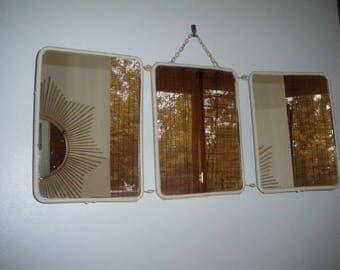 Bathroom Mirrors Vintage vintage bathroom mirror   etsy