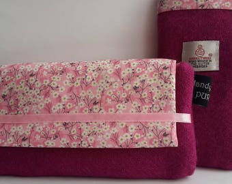 Harris Tweed Pink Glasses Case, Eyewear case, Liberty Mitsi Valeria, Fabric Glasses Case, Gifts for Mom, Gifts for Girlfriend, Wool Gifts