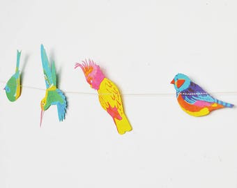 Tropical Bird Garland