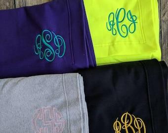 Monogram stadium blankets, customized stadium blanket, embroidered stadium blanket, personalized lap blanket, Stadium throw, monogrammed