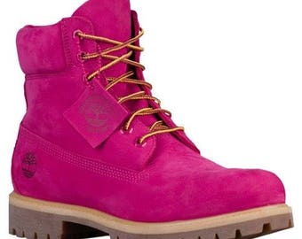 Men Size 10 Pink Timberlands! Brand New - (No Box)
