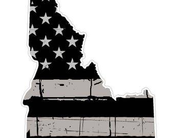Idaho State (N13) Distressed Flag Vinyl Decal Sticker Car/Truck Laptop/Netbook Window