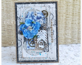 Father's Day Unique Handmade Mixed Media Card