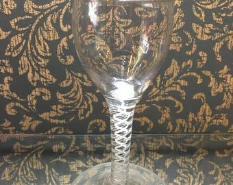 Georgian Wine Glass with Air Twist Stem c1760