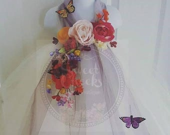 10% off EOS sale Woodland Fairy, Fairy dress, Fairy costume, Ivory flower girl, Flower girl tutu dress, tutu dress, ivory dress, Garden wedd