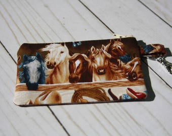 Horse, Western, ID Holder, Key Holder, Chapstick, License, Zipper Pouch, Cash Pouch, Change Purse, Journals, Pony, Card Holder, Stockings