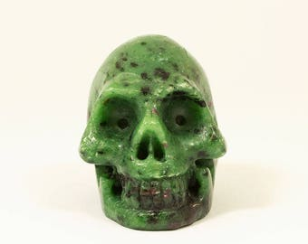 Great Ruby in Zoisite Skull