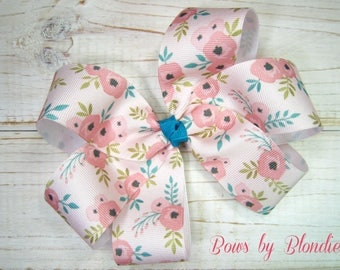 Vintage Floral Large Basic bow!