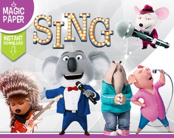 Sing Clipart - Digital 300 DPI PNG Images, Photos, Scrapbook, Digital, Cliparts, Decoration- Instant Download