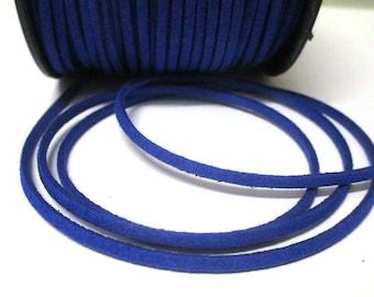 1 m suede 3 mm Dark Blue Suede cord