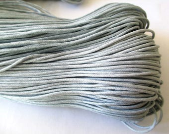 20 meters of thread waxed cotton gray 1.5 mm