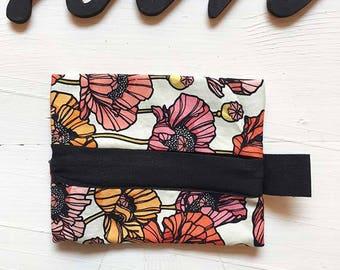 "Purse fabric ""Poppies"""