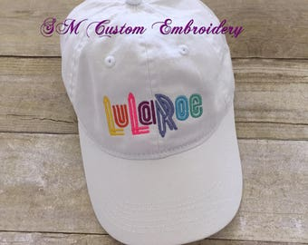 Lu La Embroidered Cap | Consultant Gift | Advertise Leggings Business | Conversation Starter | Lu La Babies Gift | LLR Swag
