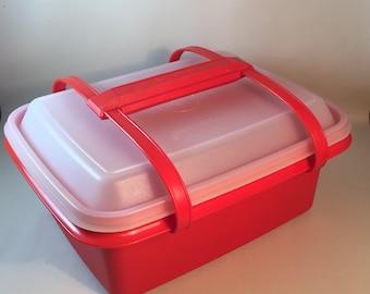 Tupperware Vintage Lunchbox Poppy 9 Piece