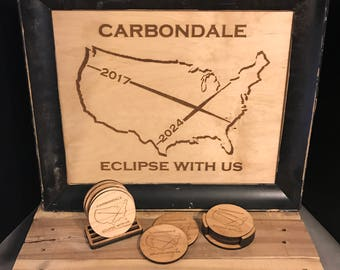 Carbondale Eclipse With Us Coaster