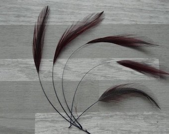 set of 5 spinning Rooster Burgundy/black