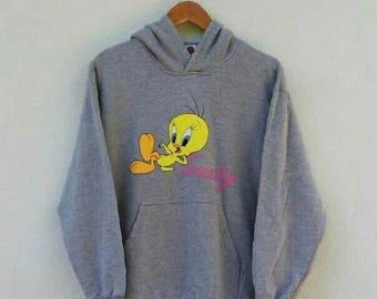 CIELO de ventas 20% de descuento Vintage años 90 Tweety y silvestre sudadera Looney Tuned Cartoon Networks Disney Sweater Jumper cuello M