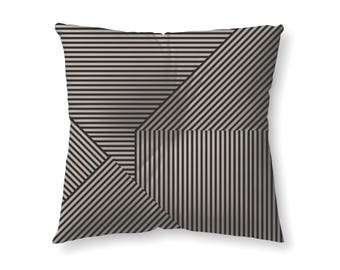 Black and Tan Striped - floor pillow