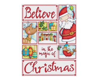 Believe - Durene J Christmas Cross Stitch Pattern - DJXS2229