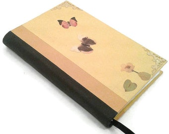 Yellow Writing Journal, butterfly, lined Pages, Diary, Notebook, gift for teens, gift for writers, journaling, hand bound, repurposed