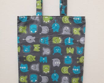 monsters pattern library bag