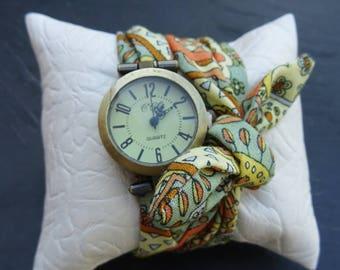 Liberty fabric bracelet watch, women summer 2017 watch, fabric wristwatch