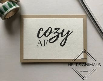 Naughty Christmas Card | Cheeky Christmas Card | Blank Christmas Card | Simple Christmas Card | Calligraphy Christmas Card
