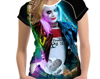 Daddy's Lil Monster, Harley Quinn, 3d t-shirt