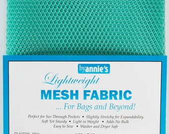 "Lightweight Mesh Turquoiuse Pre packed By Annie's 45cm x 136cm (18"" x 54"")"